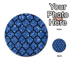 Tile1 Black Marble & Blue Marble Multi Purpose Cards (round) by trendistuff