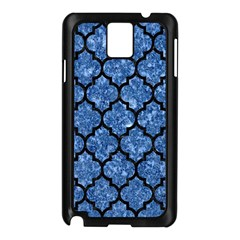 Tile1 Black Marble & Blue Marble Samsung Galaxy Note 3 N9005 Case (black) by trendistuff