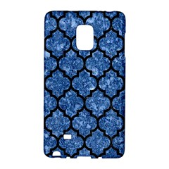 Tile1 Black Marble & Blue Marble Samsung Galaxy Note Edge Hardshell Case