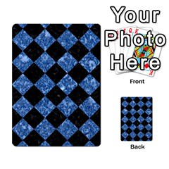 Square2 Black Marble & Blue Marble Multi Purpose Cards (rectangle) by trendistuff