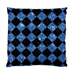 Square2 Black Marble & Blue Marble Standard Cushion Case (two Sides) by trendistuff