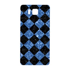 Square2 Black Marble & Blue Marble Samsung Galaxy Alpha Hardshell Back Case by trendistuff
