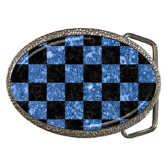 Square1 Black Marble & Blue Marble Belt Buckle