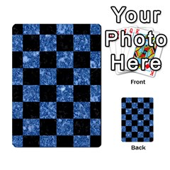 Square1 Black Marble & Blue Marble Multi Purpose Cards (rectangle) by trendistuff