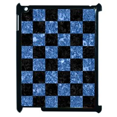 Square1 Black Marble & Blue Marble Apple Ipad 2 Case (black) by trendistuff