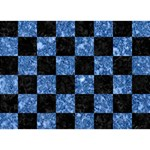 SQUARE1 BLACK MARBLE & BLUE MARBLE LOVE 3D Greeting Card (7x5) Back