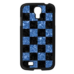 Square1 Black Marble & Blue Marble Samsung Galaxy S4 I9500/ I9505 Case (black) by trendistuff