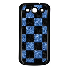 Square1 Black Marble & Blue Marble Samsung Galaxy S3 Back Case (black) by trendistuff