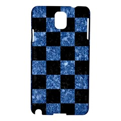 Square1 Black Marble & Blue Marble Samsung Galaxy Note 3 N9005 Hardshell Case by trendistuff