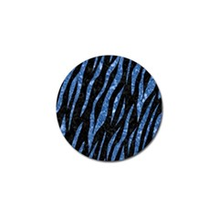 Skin3 Black Marble & Blue Marble (r) Golf Ball Marker