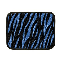 Skin3 Black Marble & Blue Marble (r) Netbook Case (small) by trendistuff
