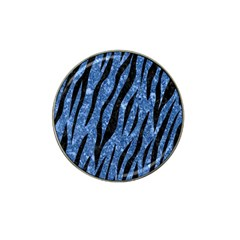 Skin3 Black Marble & Blue Marble Hat Clip Ball Marker (4 Pack) by trendistuff