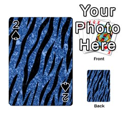 Skin3 Black Marble & Blue Marble Playing Cards 54 Designs by trendistuff