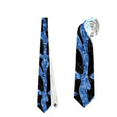 Skin2 Black Marble & Blue Marble (r) Necktie (one Side) by trendistuff