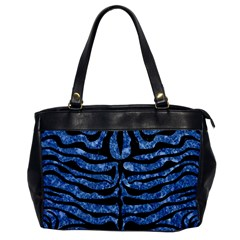Skin2 Black Marble & Blue Marble Oversize Office Handbag by trendistuff