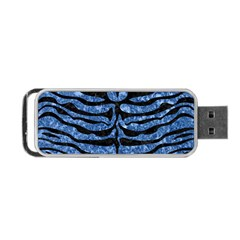 Skin2 Black Marble & Blue Marble Portable Usb Flash (two Sides) by trendistuff