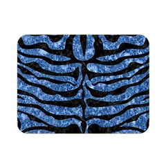 Skin2 Black Marble & Blue Marble Double Sided Flano Blanket (mini)