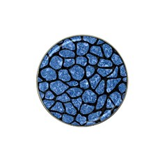 Skin1 Black Marble & Blue Marble (r) Hat Clip Ball Marker by trendistuff
