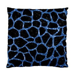 Skin1 Black Marble & Blue Marble Standard Cushion Case (one Side) by trendistuff