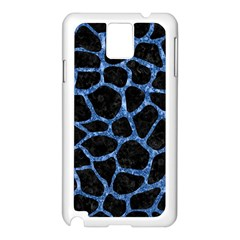 Skin1 Black Marble & Blue Marble Samsung Galaxy Note 3 N9005 Case (white) by trendistuff