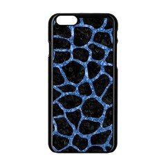 Skin1 Black Marble & Blue Marble Apple Iphone 6/6s Black Enamel Case by trendistuff