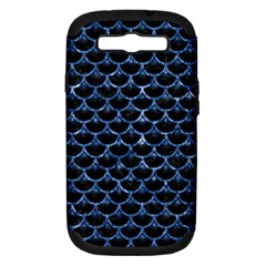 Scales3 Black Marble & Blue Marble (r) Samsung Galaxy S Iii Hardshell Case (pc+silicone) by trendistuff