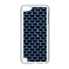 Scales3 Black Marble & Blue Marble (r) Apple Ipod Touch 5 Case (white) by trendistuff