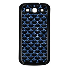 Scales3 Black Marble & Blue Marble (r) Samsung Galaxy S3 Back Case (black) by trendistuff