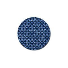 Scales3 Black Marble & Blue Marble Golf Ball Marker (10 Pack) by trendistuff