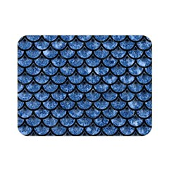 Scales3 Black Marble & Blue Marble Double Sided Flano Blanket (mini)