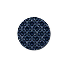 Scales2 Black Marble & Blue Marble (r) Golf Ball Marker (10 Pack) by trendistuff