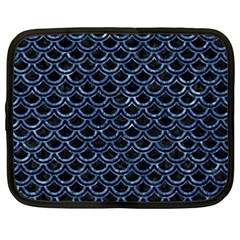 Scales2 Black Marble & Blue Marble (r) Netbook Case (xxl) by trendistuff