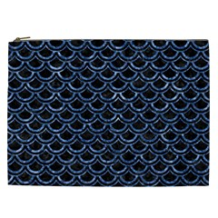 Scales2 Black Marble & Blue Marble (r) Cosmetic Bag (xxl) by trendistuff