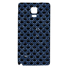 Scales2 Black Marble & Blue Marble (r) Samsung Note 4 Hardshell Back Case