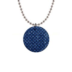 Scales2 Black Marble & Blue Marble 1  Button Necklace by trendistuff