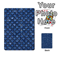 Scales2 Black Marble & Blue Marble Multi Purpose Cards (rectangle) by trendistuff
