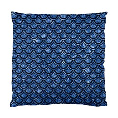 Scales2 Black Marble & Blue Marble Standard Cushion Case (one Side) by trendistuff