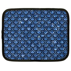 Scales2 Black Marble & Blue Marble Netbook Case (xxl) by trendistuff