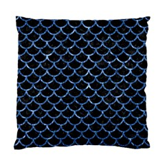 Scales1 Black Marble & Blue Marble (r) Standard Cushion Case (one Side) by trendistuff