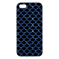Scales1 Black Marble & Blue Marble (r) Iphone 5s/ Se Premium Hardshell Case by trendistuff