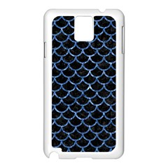 Scales1 Black Marble & Blue Marble (r) Samsung Galaxy Note 3 N9005 Case (white) by trendistuff