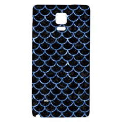 Scales1 Black Marble & Blue Marble (r) Samsung Note 4 Hardshell Back Case