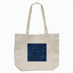 Scales1 Black Marble & Blue Marble Tote Bag (cream)