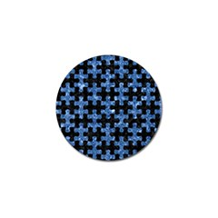 Puzzle1 Black Marble & Blue Marble Golf Ball Marker (4 Pack) by trendistuff