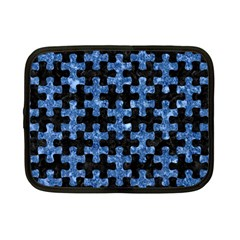 Puzzle1 Black Marble & Blue Marble Netbook Case (small) by trendistuff