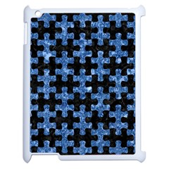 Puzzle1 Black Marble & Blue Marble Apple Ipad 2 Case (white) by trendistuff