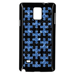 Puzzle1 Black Marble & Blue Marble Samsung Galaxy Note 4 Case (black)