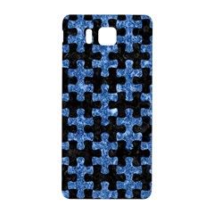Puzzle1 Black Marble & Blue Marble Samsung Galaxy Alpha Hardshell Back Case by trendistuff