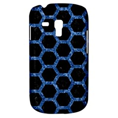 Hexagon2 Black Marble & Blue Marble (r) Samsung Galaxy S3 Mini I8190 Hardshell Case by trendistuff
