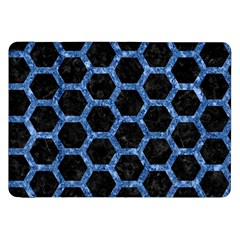Hexagon2 Black Marble & Blue Marble (r) Samsung Galaxy Tab 8 9  P7300 Flip Case by trendistuff